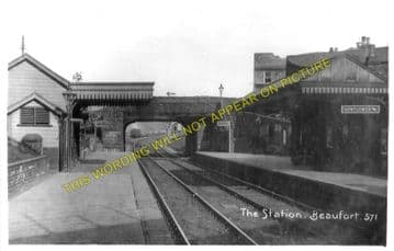 Beaufort Railway Station Photo. Brynmawr to Trevil and Ebbw Vale Lines. (1)