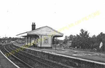 Beccles Railway Station Photo. Brampton to Geldeston, Lowestoft Line (10)..