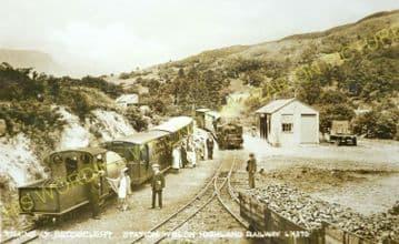 Beddgelert Railway Station Photo. Welsh Highland Railway. Narrow Gauge. (12)