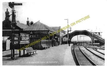 Bedlington Railway Station Photo. Bebside to Choppington and North Seaton (2)
