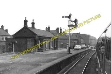 Bedlington Railway Station Photo. Bebside to Choppington and North Seaton (4)