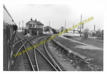 Bedlington Railway Station Photo. Bebside to Choppington and North Seaton (5)