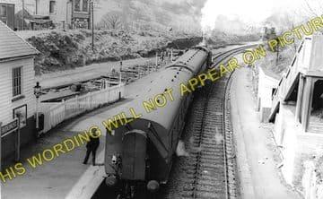 Bedlinog Railway Station Photo. Treharris - Merthyr. Great Western & Rhymney (1)..