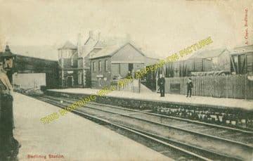 Bedlinog Railway Station Photo. Treharris - Merthyr. Great Western & Rhymney (2)