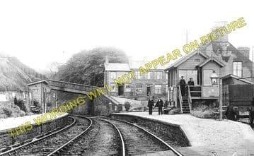 Bedwas Railway Station Photo. Trethomas - Hengoed. Brecon & Merthyr Railway (1)..