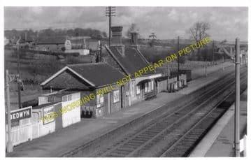 Bedwyn Railway Station Photo. Hungerford - Savernake. Newbury to Pewsey (4)