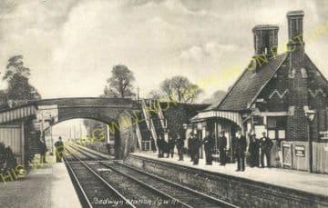 Bedwyn Railway Station Photo. Hungerford - Savernake. Newbury to Pewsey (8).