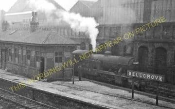 Bellgrove Railway Station Photo.  Glasgow - Parkhead. North British Railway. (1)