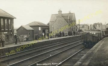 Bellingham Railway Station Photo. Reedsmouth - Tarset. Falstone Line (6).