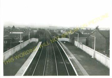 Bellshill Railway Station Photo. Mossend - Uddington. Caledonian Railway. (2)