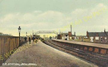 Bellshill Railway Station Photo. Mossend - Uddington. Caledonian Railway. (3)