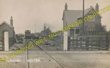 Belton Railway Station Photo. Epworth - Crowle. Haxey to Reedness. (3)