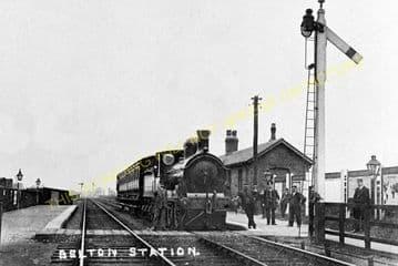 Belton Railway Station Photo. Epworth - Crowle. Haxey to Reedness. (5).