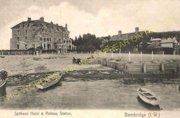 Bembridge Railway Station Photo. St. Helens and Brading Line. Isle of Wight (13).