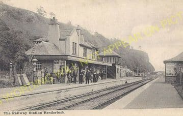 Benderloch Railway Station Photo. Connel Ferry - Creagan. Appin Line. (2)