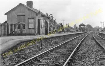 Bengeworth Railway Station Photo. Evesham - Hinton. Ashchurch Line. Midland. (4).