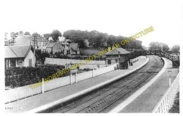 Bieldside Railway Station Photo. Cults - Murtle. Aberdeen to Culter Line. (1)..