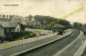 Bieldside Railway Station Photo. Cults - Murtle. Aberdeen to Culter Line. (2)