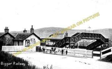 Biggar Railway Station Photo. Coulter - Broughton. Symington to Peebles Line (2)
