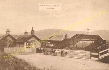 Biggar Railway Station Photo. Coulter - Broughton. Symington to Peebles Line (4)