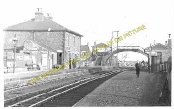Billingham Railway Station Photo. Norton-on-Tees - Greatham. Middlesbrough. (2)