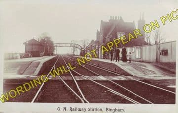Bingham Railway Station Photo. Radcliffe-on-Trent - Aslockton. (4)