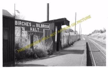 Birches & Bilbrook Railway Station Photo. Codsall - Dunstall Park. GWR. (4)