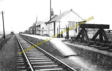 Birdbrook Railway Station Photo. Haverhill - Yeldham. Colne Valley Line. (3)