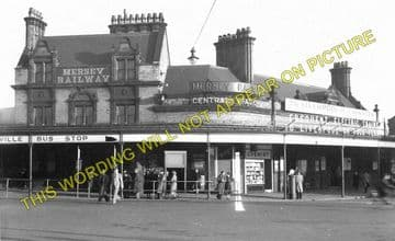 Birkenhead Central Railway Station Photo. Mersey Railway. (2)