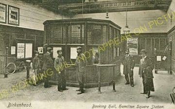 Birkenhead Hamilton Square Railway Station Photo. Mersey Railway. (1)..