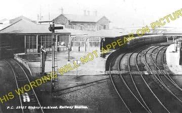 Bishop Auckland Railway Station Photo. Shildon - Etherley. North Eastern Rly (1)