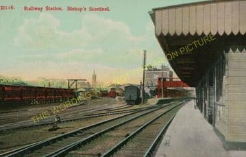 Bishop's Stortford Railway Station Photo. Harlow to Stansted and Takeley. (12).