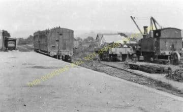 Bishops Castle Railway Station Photo. Lydham Heath and Craven Arms Line. (12)