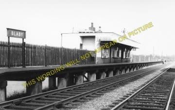 Blaby Railway Station Photo. Glen Parva - Narborough. Wigston to Croft Line. (1)