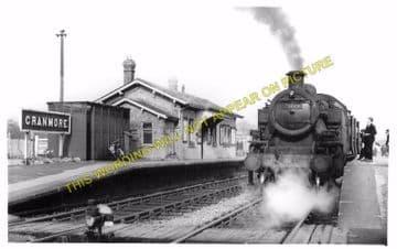 Blaby Railway Station Photo. Glen Parva - Narborough. Wigston to Croft Line. (2)