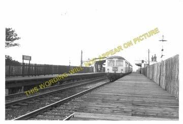Blaby Railway Station Photo. Glen Parva - Narborough. Wigston to Croft Line. (3)