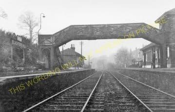 Blackford Hill Railway Station Photo. Newington - Morningside Road, Edinburgh. (1)..