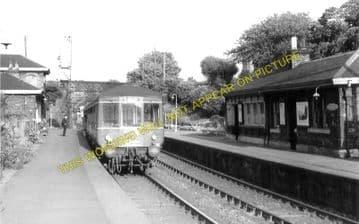 Blackford Hill Railway Station Photo. Newington - Morningside Road. Edinburgh (3)