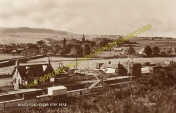 Blackford Railway Station Photo. Gleneagles - Greenloaning. Dunblane Line. (2)