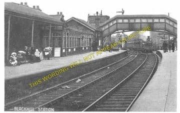 Blackhill Railway Station Photo. Shotley Bridge to Knitsley and Rowley Lines (1)