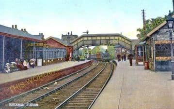 Blackhill Railway Station Photo. Shotley Bridge to Knitsley and Rowley Lines (6)