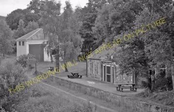 Blacksboat Railway Station Photo. Knockando - Ballindalloch. Carron to Advie (3)