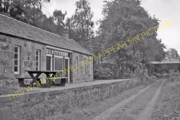 Blacksboat Railway Station Photo. Knockando - Ballindalloch. Carron to Advie (4)