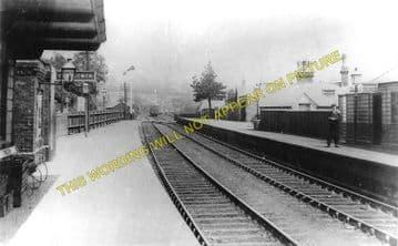 Blackwood Railway Station Photo. Argoed - Pontllanfraith. Tredegar to Risca. (1)..