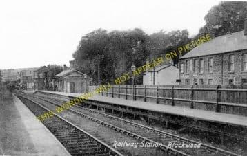 Blackwood Railway Station Photo. Argoed - Pontllanfraith. Tredegar to Risca. (2)