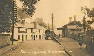 Blackwood Railway Station Photo. Argoed - Pontllanfraith. Tredegar to Risca. (9)