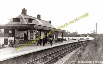 Blackwood Railway Station Photo. Stonehouse - Lesmahagow. Caledonian Railway (1)..