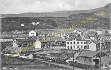 Blaengarw Railway Station Photo. Pontcymmer - Abergwynfi. Cymmer Line. (4).