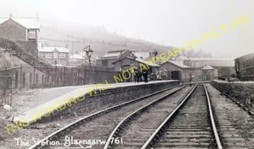Blaengarw Railway Station Photo. Pontcymmer - Abergwynfi. Cymmer Line. (5).