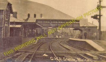 Blaina Railway Station Photo. Abertillery - Nantyglo. Brynmawr Line. (1)